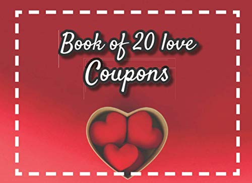 Ze Love Coupons: v1-10   20 full Color coupons to complete   gift idea for Valentine's day Birthday or Christmas   for her for him couples dad mom   heart-shaped box