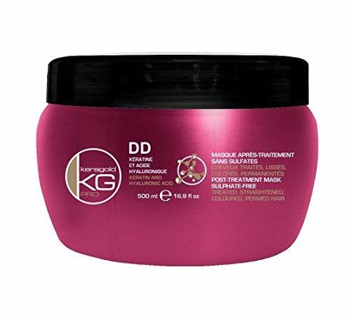 KERAGOLD PRO Masque DD sans Sulfate à la Kératine/Acide Hyaluronique 500 ml - Lot de 2