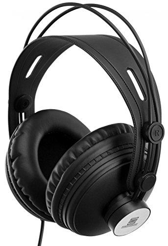 Pronomic KH-900 Comfort Kopfhörer (15-25000 Hz, 3 m Kabel, automatische Größenanpassung, weiche, sehr große, ohrumschließende Muscheln, vergoldeter Klinkenstecker, inkl. 6,3 mm Adapter) schwarz
