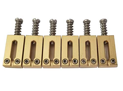 Guitar Bridge Saddles Solid Brass 10.80mm for Fender Stratocaster or Telecaster