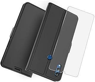 Happon の Huawei Honor 8X Max 純正 レザー 財布 シェル カバー, フリップ 立つ, カード スロット, スタイリッシュ,