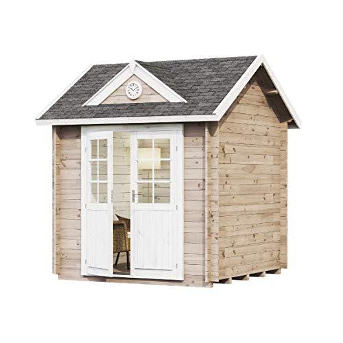 Alpholz Gartenhaus Clockhouse Halifax-28 aus Massiv-Holz | Gerätehaus mit 28 mm Wandstärke | Garten Holzhaus inklusive Montagematerial | Geräteschuppen Größe: 250 x 250 cm | Satteldach