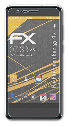 atFolix Panzerfolie kompatibel mit Phicomm Energy 4s Schutzfolie, entspiegelnde & stoßdämpfende FX Folie (3X)