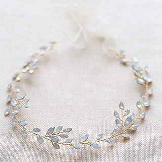 Ideal Swan Wedding Headband hair vines Accessories Bridal Wedding Crystals Jewellery Decorative Wedding headpiece Long Hai...