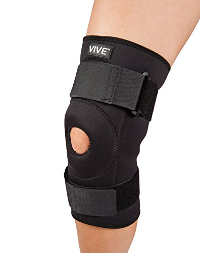 VIVE Stabilizing Neoprene Knee Brace Support w/ Adjustable Straps (X-Large)
