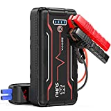 SUHU Car Battery Jump Starter, 2500 Amp 20800mAh (Up to 9.0L Gas and 7.5L Diesel Engines) Car Booster with LED Flashlight 12V Auto Lithium Portable Battery Pack, Long Standby Type-C Input Port, QC