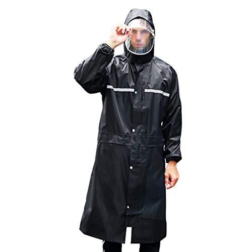 Preisvergleich Produktbild Regenponcho Wasserdichter Regenschutz Multifunktionaler Kapuzenponcho Wiederverwendbarer Notfall Regenmantel Tragbarer Regenjacke Für Erwachsene -AA Schutz Overall ( Farbe : Black