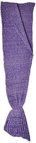 Hughapy Christmas Soft Mermaid Tail Blanket Handmade Living Room Sleeping Blanket for Kids Adult...