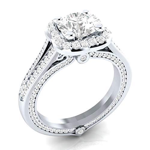CommittedeDamen Ring Handgemachte Ringe für Frauen und Mädchen Damen Ring Aquamarin Blau Grün Kristall Stein Hochzeit Schmuck