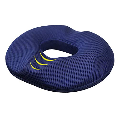 Donut Hemorrhoid Tailbone Cushion,Memory Foam Chair Pad,Coccyx, Prostate, Sciatica, Bed Sores, Post-Surgery Pain Relief,Orthopedic Firm Seat Pad for Home, Office, Car, Wheelchair(Black (Men))