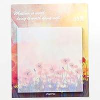 ACHICOO 付箋 自然なパターンシリーズ 紙 装飾的な DIY クラフト クリエイティブ 塗装油絵 夕暮れ