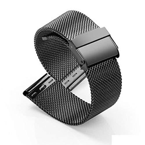 GOLOFEA Correa de Seguridad Hebilla de Inspección rápida liberación de los Hombres y Mujeres de la Cadena de Reloj Universal cómodo de Llevar Muñeca Apta black-12mm