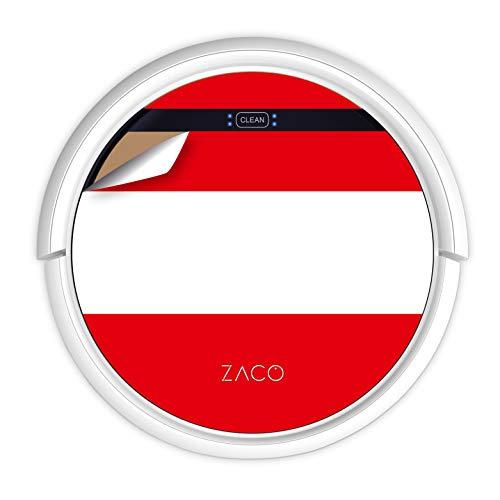 ZACO V5sPro Robot Aspirador y fregasuelos, aspirar y Fregar hasta 180m2, para Suelos Duros, Madera, parquet y alfombras, sin Bolsa, Mando a Distancia, 300ml, para pelos de Mascotas, Bandera austriaca