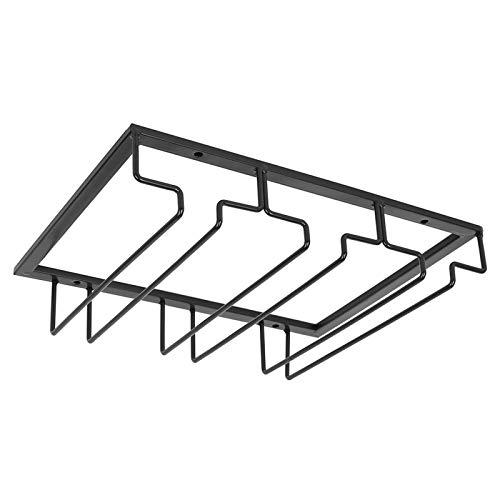 Estante para Copas de Vino Debajo del Gabinete Soporte para Colgador de Almacenamiento Organizador de Metal para Bar Cocina 6-9 Tazas