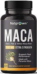 top rated Organic Maca Root Powder Capsule 1500mg, Black + Red + Yellow Peruvian Maca Root Extract … 2021