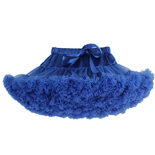 Adorel Falda Tutú Tul de Enagua Plisada Ballet para Niñas Azul 2-4 Años (Tamaño del Fabricante S)