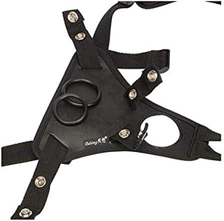 Unisex Strap on Harness Belt Pants Strapless Panties with Adjustable Belt in Black For Women Men