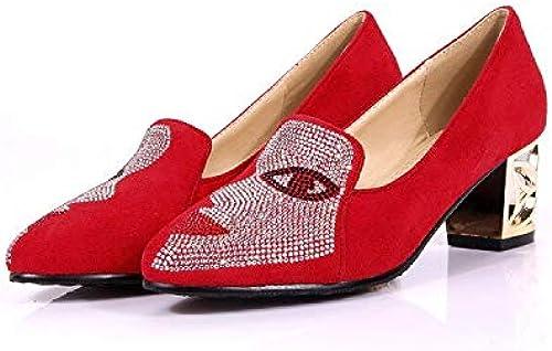 HommesGLTX Talon Aiguille Talons Hauts Sandales Nouvelle Nouvelle Mode Grande Taille 33-48 Pompes à Talons Aiguilles avec Boucle Maof De Haute Qualité Femmes PU Pointu Chaussures 602  à vendre en ligne
