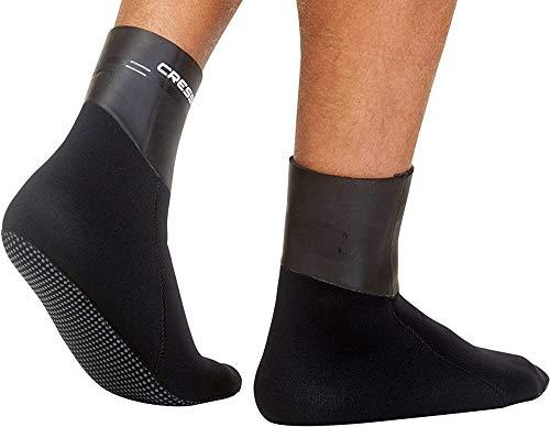 Cressi Sarago Socks 5mm Calzado Térmico de Neopreono, Unisex-Adult, Negro, L
