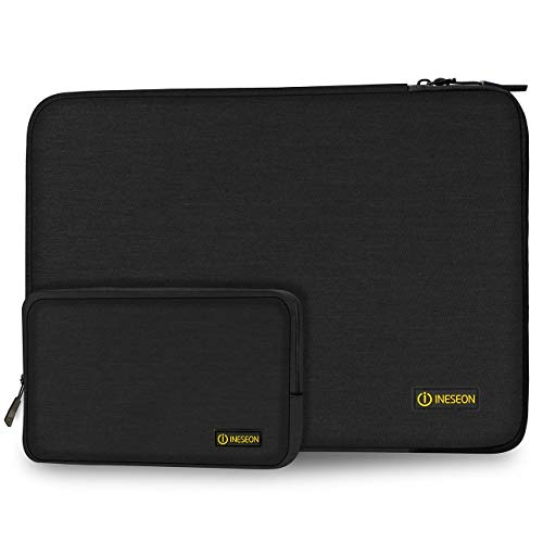 I INESEON Laptop Hülle 14 Zoll Tasche Notebook Schutzhülle Sleeve mit Zubehörtasche für HP EliteBook 840/Stream 14, Lenovo IdeaPad ThinkPad 14, Acer Aspire 14, Dell Chromebook 14, Schwarz