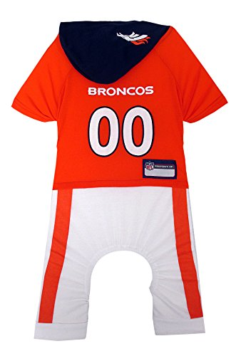 NFL Denver Broncos Pet Onesie, Size Small. Cutest Pet Outfit for Any Pet, Any Occasion!