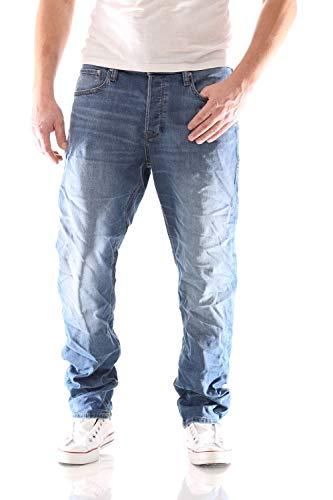 JACK & JONES Herren JJIMIKE JJORIGINAL AM 815 NOOS Loose Fit Jeans, Blau, 36/34
