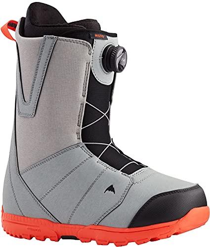 Burton Moto Boa Herren Snowboard-Stiefel, Mehrere (Grau/Rot), 39.5 EU
