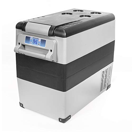 XtremepowerUS X-Large 58-Quart Portable Camping Refrigerator Compact Vehicle Car Mini Fridge with Bluetooth Cooler Built-in LED Light