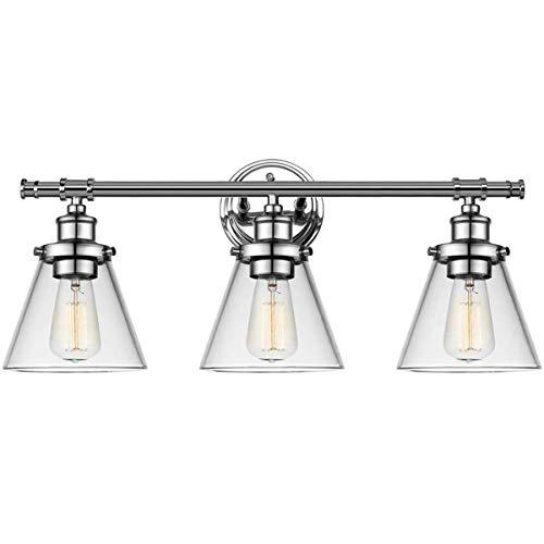 Luz de espejo vintage para baño, 3 apliques de luz Iluminación de...