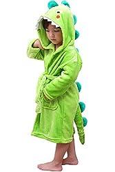 4. LOLANTA Soft Animal Plush Hooded Bathrobe