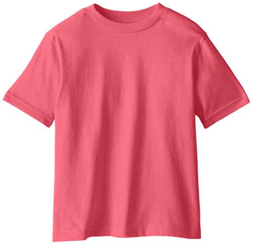 SOFFE Little Boys' Pro Weight Short Sleeve tee, Safety Pink, 2T
