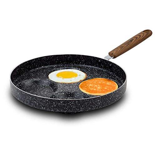 NAVA Pfanne Bratpfanne NATURE mit Granitbeschichtung für Spiegelei Pfannkuchen Omeletts 26 cm