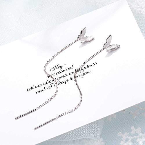 wangtao Romantische Lichte Dans Vlinder Oorlijn Vrouwelijk Temperament Lange Oorbellen Oorbellen Mode Eenvoudig Honderd Bijpassende Accessoires