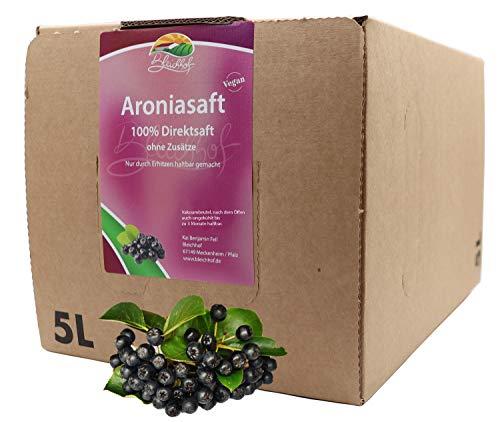 Bleichhof Aroniasaft - 100% Direktsaft, vegan, OHNE Zuckerzusatz, Bag-in-Box mit Zapfsystem (1x 5l Saftbox)