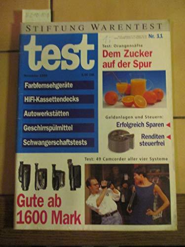 Stiftung Warentest Heft 11 / 1994: Farbfernsehgeräte, Hifi-Kassettendecks, Autowerkstätten, Geschirrspülmittel, Schwangerschaftstests, Orangensäfte, Camcorder
