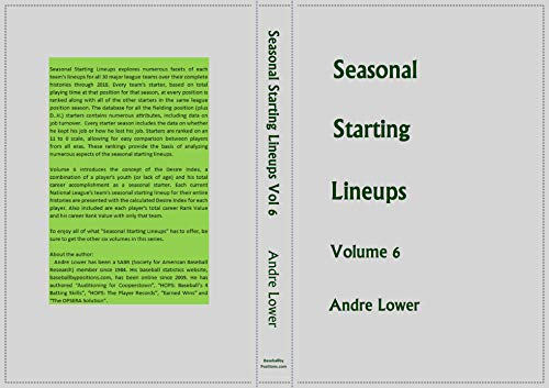 Seasonal Starting Lineups Volume 6.2: NL CENTRAL (English Edition)