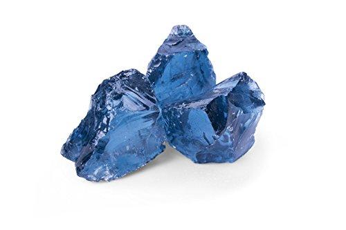 Glas Gabionensteine Kies Splitt Zierkies Edelsplitt Glas Royal Blue GS, 50-120mm Big Bag 500 kg