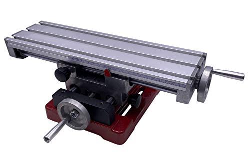 PAULIMOT Kreuztisch aus Aluminium 350 x 100 mm mit Rundsäulenführung