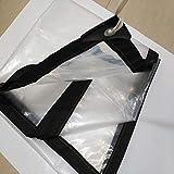 HLL Lonas, Grueso al aire libre y transparente a prueba de lluvia de tela impermeable de protección solar de tela plástica,2 * 6m