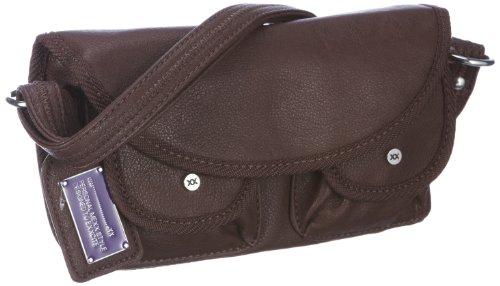 Mexx Damen Casual Small Shoulderbag Umhängetaschen, Braun/DRK Brown, 23x14x5 cm