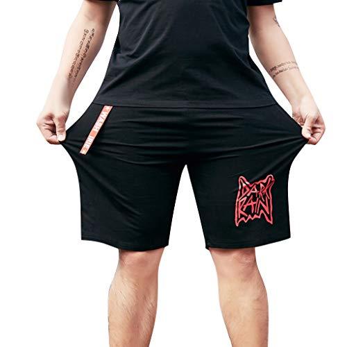 Alikey zomershorts, bedrukt, comfort, voor heren, grote maat, heren, korte broek, casual shorts en bermuda, sport, joggen, casual, slim fit, meerdere zakken
