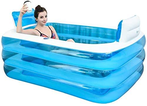 Bath Tub Inflatable Bathtub for Two People Adult Portable,Folding Comfortable Bath,Thicken Home Spa Massage Quality Tub Soaking Baths Inflatable Pools- Thick PVC 220Liter