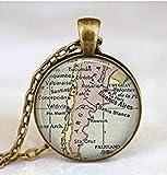 Collier avec carte argentine - Pendentif carte argentine - B