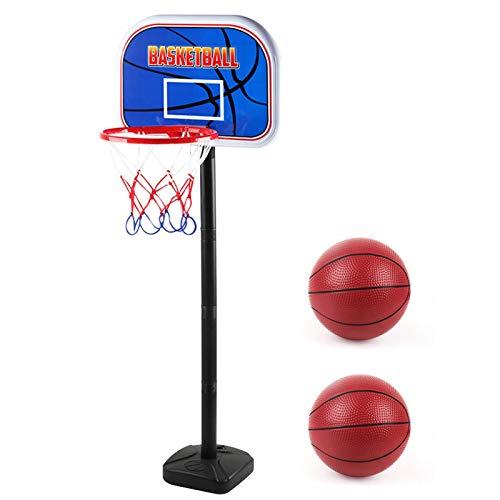 abcd123 Canasta de baloncesto para niños, soporte de baloncesto portátil, altura ajustable, para niños a partir de 3 años