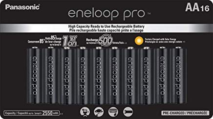 Panasonic BK-3HCCA16FA eneloop pro AA High Capacity Ni-MH Pre-Charged Rechargeable Batteries, 16 Pack