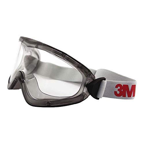 3M 2890SA Vollsichtbrille, 2890er Serie, AF, UV, A, ohne Belüftungsschlitze (gasdicht), Klar
