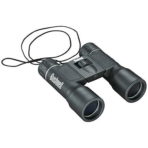 BUSHNELL - Jumelles Compactes pour Adultes - Powerview - 16x32 - Noir - Prisme en Toit - Compactes - Idéales Randonnées - Camping - Pocket - 131632
