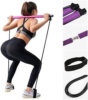 AKABEILA Yoga Barra de Pilates Resistencia al Ejercicio Banda Multifunción Cuerda de tracción elástica Equilibrio Estiramiento Sentadillas Gimnasio en casa Pilates con Foot Loop