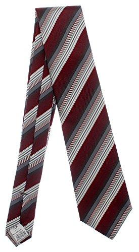 Seidenkrawatte gestreift beere grau 100% Seide Krawatte Monti Herren