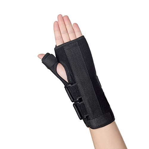 Carpal Tunnel Wrist Brace Separate Removable Thumb Splint, Adjustable Wrist Support for Night Sleep, Wrist Stabilizer for Men and Women Tendonitis, Arthritis, Pain Relief, Tendinopathy